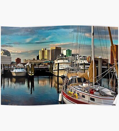 Portsmouth Harbor - Norfolk Skyline Poster