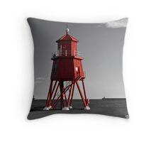South Shields Groyne Throw Pillow