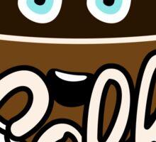 Cute Coffee Addict Sticker