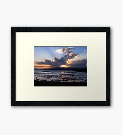 Fundy Sunset Framed Print
