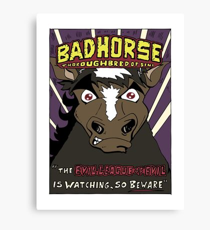 BAD HORSE Canvas Print