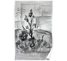 Ink Landscape  Poster