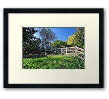 Farm house Framed Print