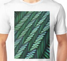 Green and Blue Folds Unisex T-Shirt