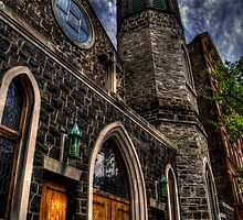 Church & Clouds by InvisibleClown