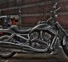 Chrome & Black Harley Davidson Motorcycle by InvisibleClown