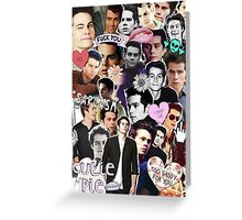 My Heart Belongs To Dylan O'Brien: Collage Greeting Card