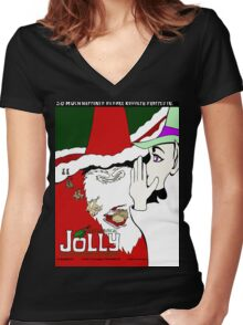 JOLLY Women's Fitted V-Neck T-Shirt