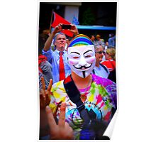 Anonymous Peace, Love and Prosperity Poster