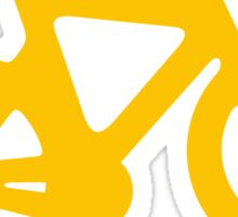 Yellow Bike Sticker