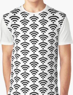 Wi-Fi Pattern Graphic T-Shirt