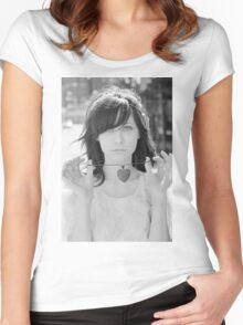 Zooey Deschanel Women's Fitted Scoop T-Shirt