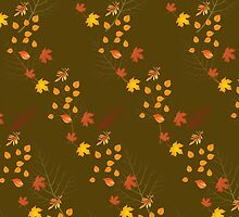 Leaves In Fall  by Raymond Doyle (BlackRose Designs)