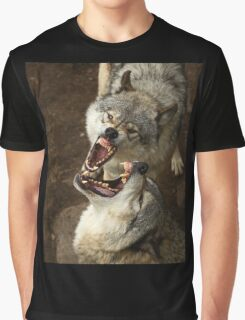 """Smiles, everyone, smiles!"" - Timber Wolves Graphic T-Shirt"