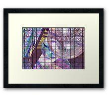 Gridline Worlds Framed Print