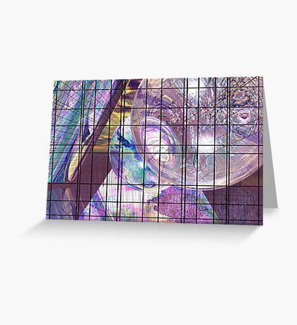 Gridline Worlds Greeting Card