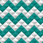 Blue and white triangles pattern by ashkenazigal