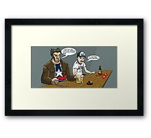 Ain't no Captain America Star Framed Print