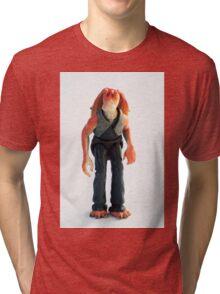 Jar Jar Star wars action figure Tri-blend T-Shirt