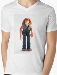 Jar Jar Star wars action figure Mens V-Neck T-Shirt