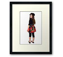 Ten year old singer/performer Framed Print