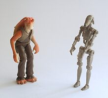 Jar Jar and battle droid Star wars action figure by PhotoStock-Isra