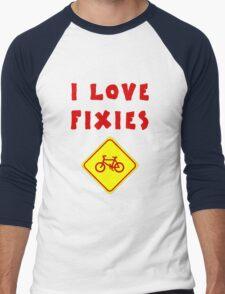 I love FIXIES Men's Baseball ¾ T-Shirt