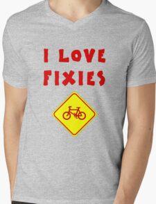 I love FIXIES Mens V-Neck T-Shirt