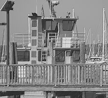 Over Embossed Boat and Pier at St. Marys, Georgia by BCallahan