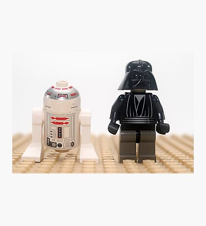 Star wars action figure Darth Vader and R2D2  Photographic Print