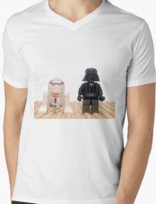 Star wars action figure Darth Vader and R2D2  Mens V-Neck T-Shirt