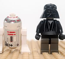 Star wars action figure Darth Vader and R2D2  by PhotoStock-Isra