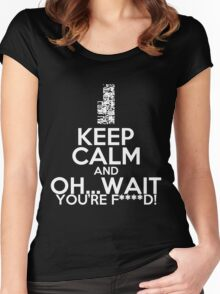 Pokemon, Missingno Keep Calm Women's Fitted Scoop T-Shirt