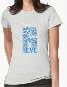Eve 6 Typography Shirt - Blue Womens Fitted T-Shirt