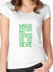 Eve 6 Typography Shirt - Green Women's Fitted Scoop T-Shirt