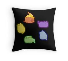 Emotion Cats Throw Pillow