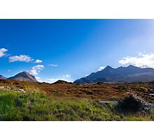 The Blue Cuillin from Sligachan on the Isle of Skye Photographic Print