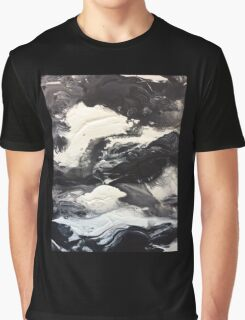 Balance, Black and White Abstract Graphic T-Shirt