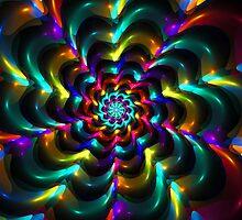 Colorful Flowery Web by Beatriz  Cruz