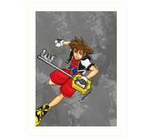 Sora the Keyblade Master Art Print