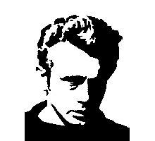 James Dean - pixel art Photographic Print