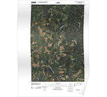 USGS Topo Map Washington State WA Blue Mountain 20110406 TM Poster
