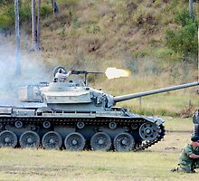 Centurion Tank firing .50 caliber machine gun by Craig Stronner