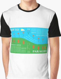 How To Paraglide — Infographic Graphic T-Shirt