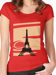 Jupiter and Eiffel Tower Women's Fitted Scoop T-Shirt