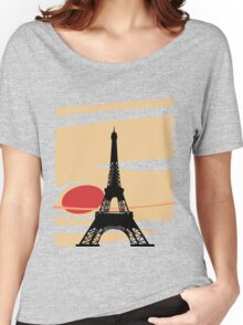 Jupiter and Eiffel Tower Women's Relaxed Fit T-Shirt