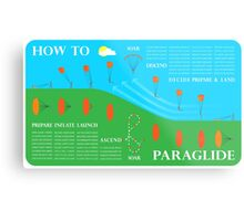 How To Paraglide — Infographic Metal Print