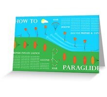 How To Paraglide — Infographic Greeting Card