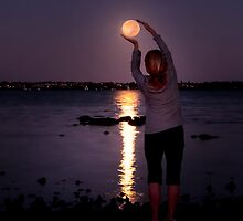 Holding the Moon  by Ian  Clark