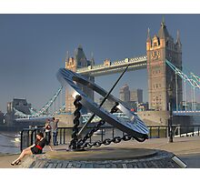 The Girl at Tower Bridge. Photographic Print